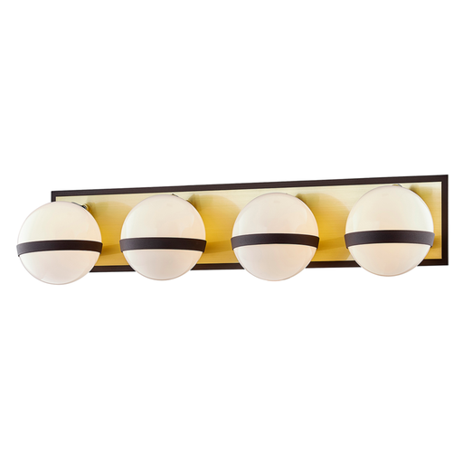 Ace 4-Light Bath Bar - Textured Bronze/Brushed Brass Finish