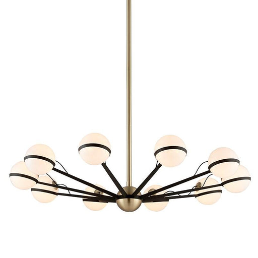 Ace 10 Light Chandelier - Brushed Brass
