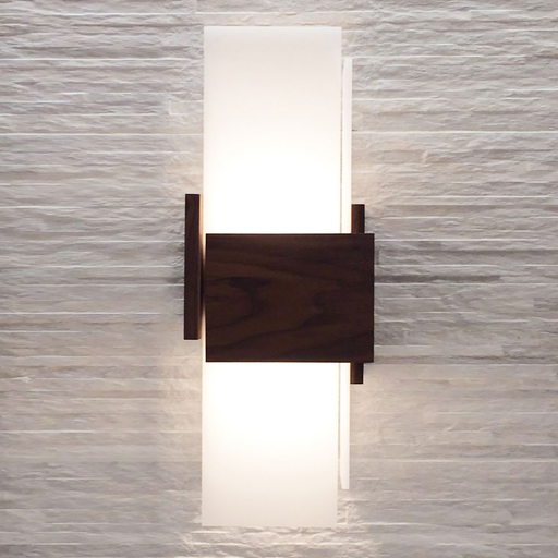 Acuo LED Sconce - Dark Stain Walnut Finish
