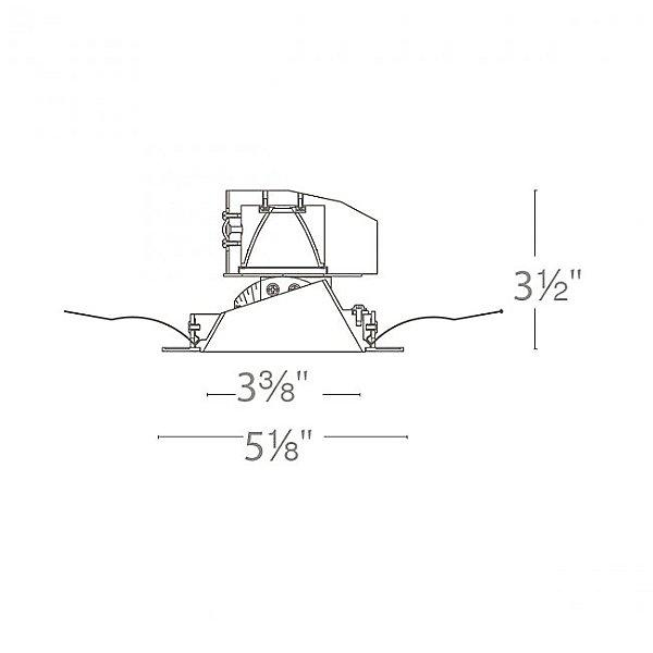 Aether Round Adjustable Trim with LED Light Engine - Diagram