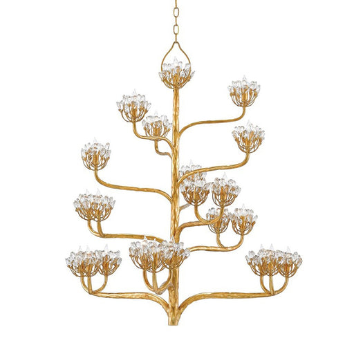 Agave Americana Chandelier - Gold Leaf Finish