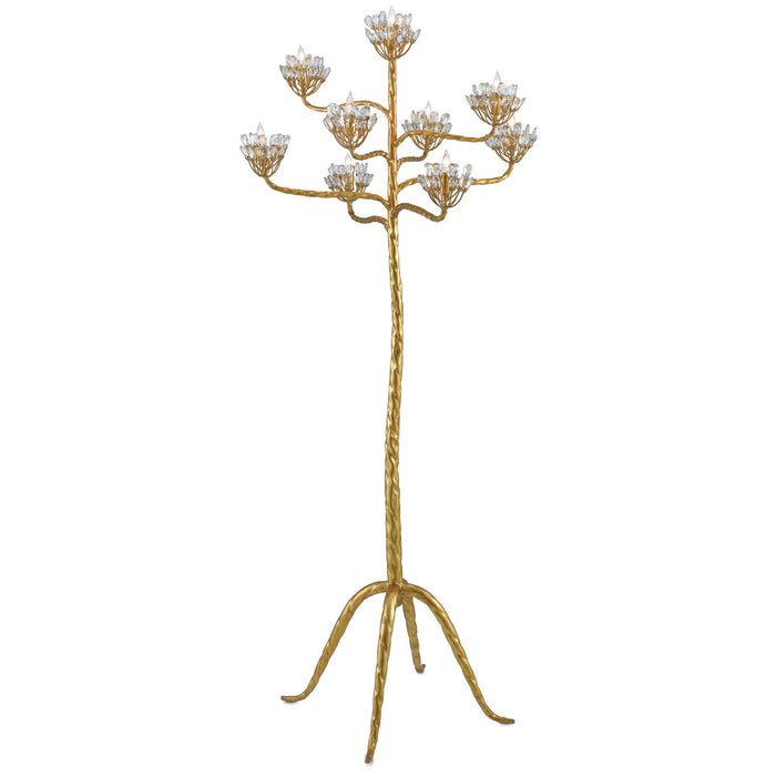 Agave Americana Floor Lamp - Gold Leaf Finish
