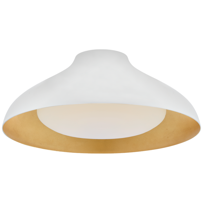 "Agnes 18"" Flush Mount - Plaster White Finish"
