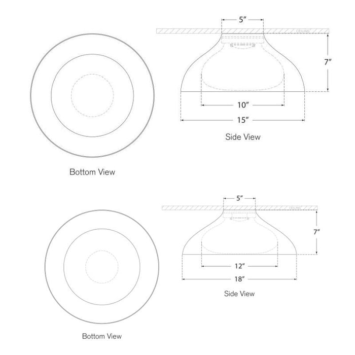 Agnes Flush Mount - Diagram