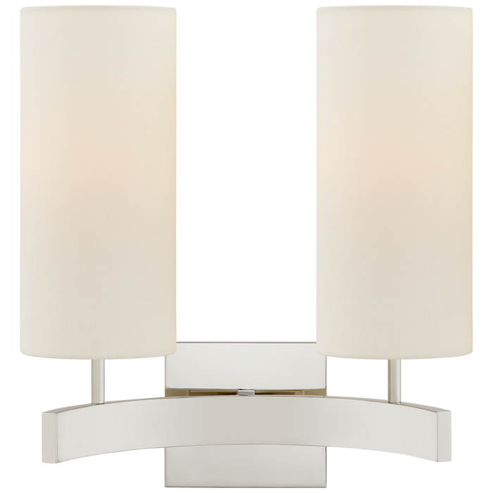 Aimee Double Sconce - Polished Nickel Finish