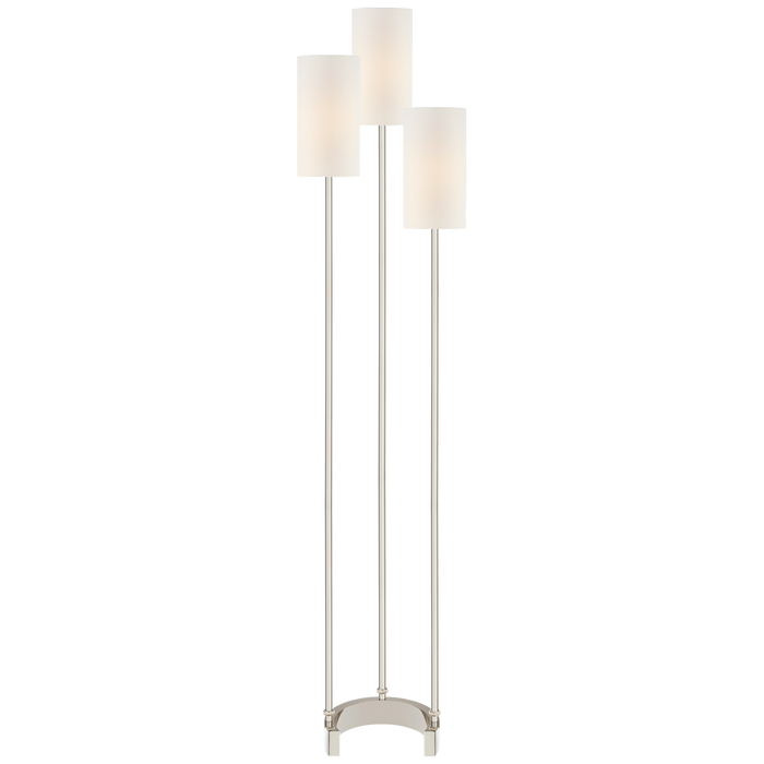 Aimee Floor Lamp - Polished Nickel Finish