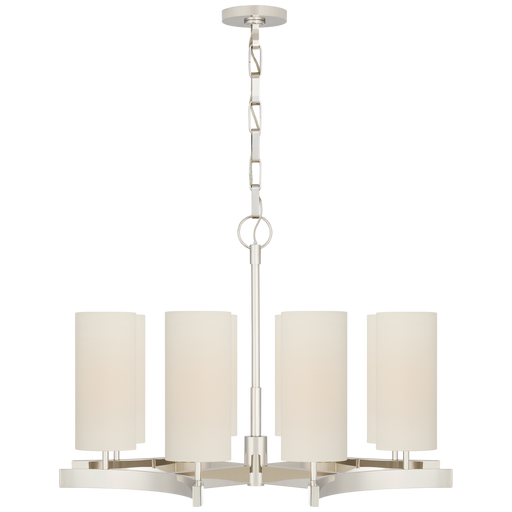 Aimee Medium Chandelier - Polished Nickel Finish