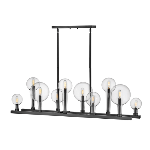 Alchemy Linear Chandelier - Black Finish