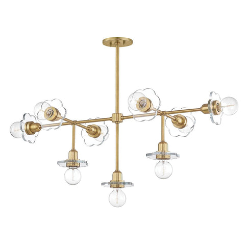 Alexa 9-Light Chandelier - Aged Brass