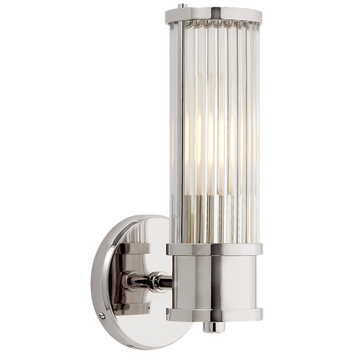 Allen Single Sconce - Polished Nickel Finish