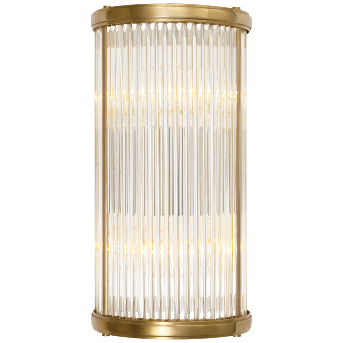 Allen Small Linear Sconce - Natural Brass Finish