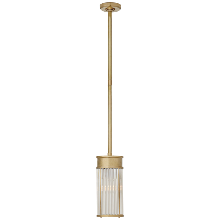 Allen Small Pendant - Natural Brass Finish