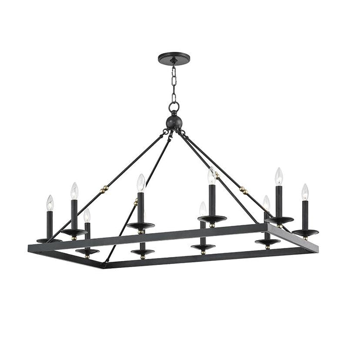 Allendale Rectangular Chandelier - Aged Old Bronze Finish
