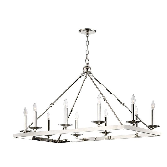 Allendale Rectangular Chandelier - Polished Nickel Finish
