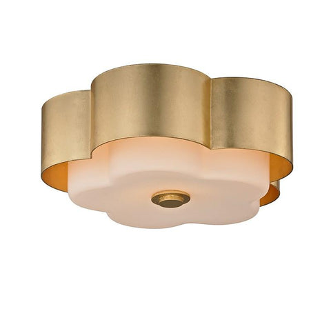 ALLURE FLORAL CEILING FLUSH LIGHT Gold Leaf