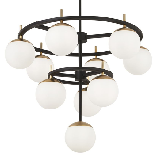 Alluria 2-Tier Chandelier - Black with Autumn Gold Accents