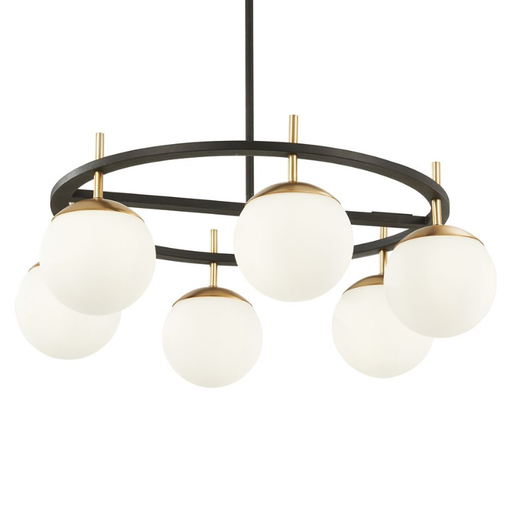 Alluria 6-Light Chandelier - Black with Autumn Gold Accents