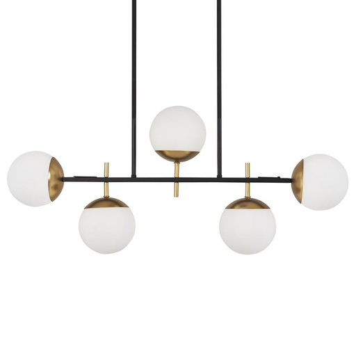 Alluria Linear Suspension Light - Black with Autumn Gold Accent
