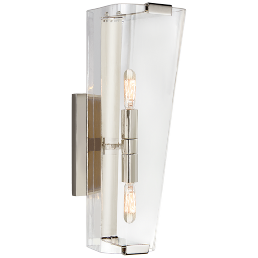 Alpine Large Single Sconce - Polished Nickel/Clear Glass