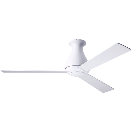 "Altus Flush Ceiling Fan 52"" - Gloss White (No Light)"