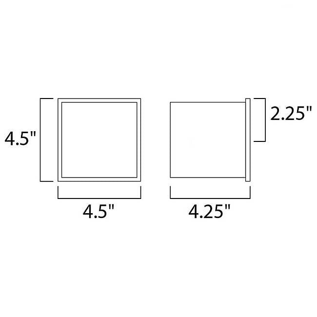 Alumilux AL E41308 LED Wall Sconce - Diagram