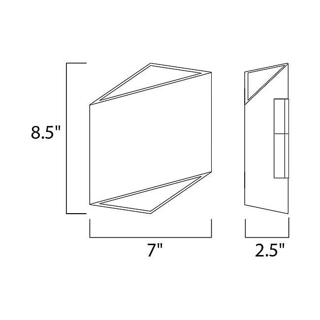 Alumilux AL LED Outdoor Wall Sconce E41373 - Diagram