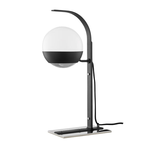 Aly Table Lamp - Black and Polished Nickel Finish