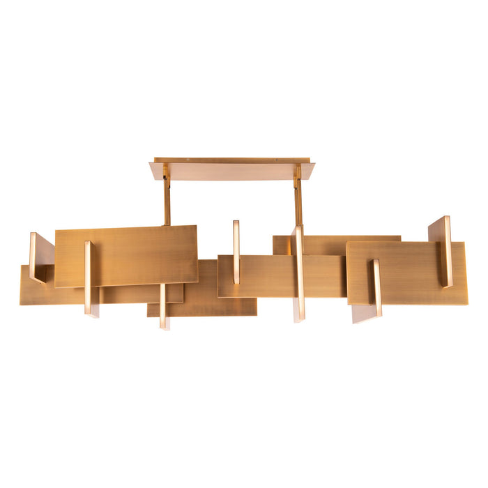 Amari LED Chandelier - Aged Brass Finish