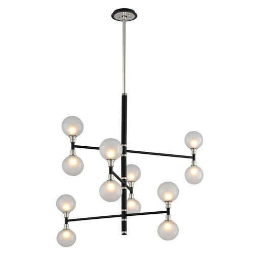 Andromeda 12-Light Chandelier - Polished Nickel Finish