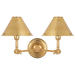 Anette Double Sconce - Natural Brass Finish