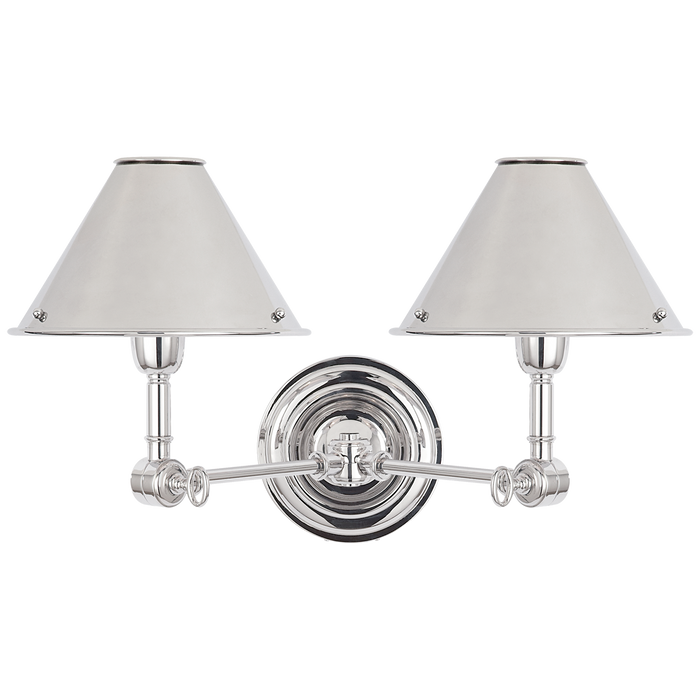 Anette Double Sconce - Polished Nickel Finish
