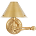 Anette Swing Arm Sconce - Natural Brass Finish