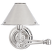 Anette Swing Arm Sconce - Polished Nickel Finish