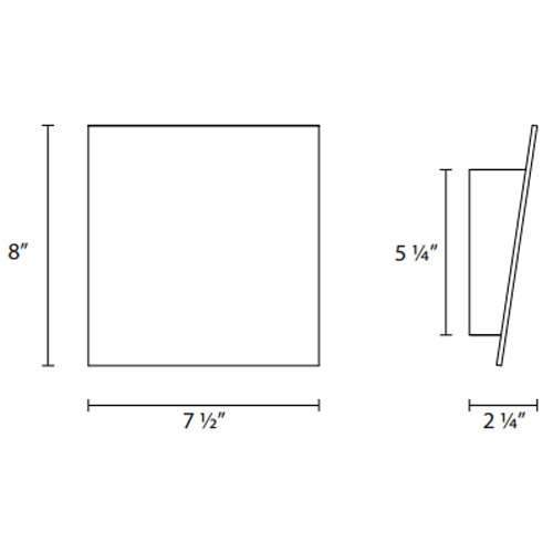 Angled Plane LED Wall Sconce - Diagram