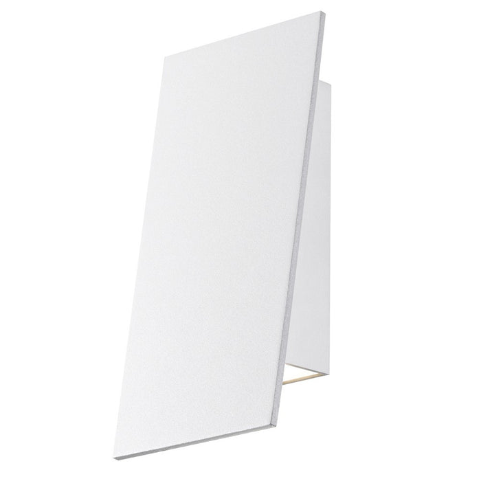 Angled Plane Narrow Downlight Outdoor LED Wall Sconce - White