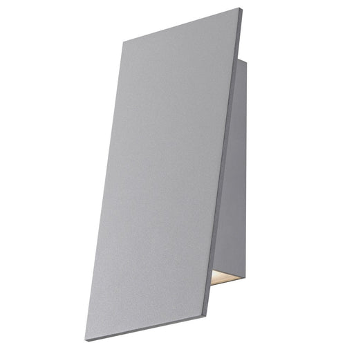 Angled Plane Narrow Downlight Outdoor LED Wall Sconce - Gray