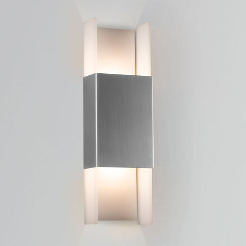 Ansa Outdoor LED Wall Sconce - Marine Grade Brushed Stainless Steel Finish