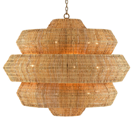 Antibes Large Chandelier - Natural Finish