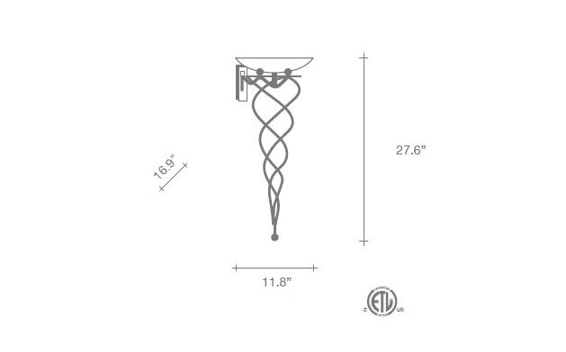 Antinea Wall Sconce - Diagram