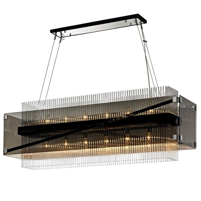 Apollo Linear Suspension - Dark Bronze/Polished Chrome Finish