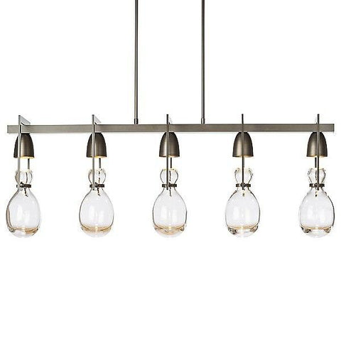Apothecary Linear Pendant Light - Dark Smoke