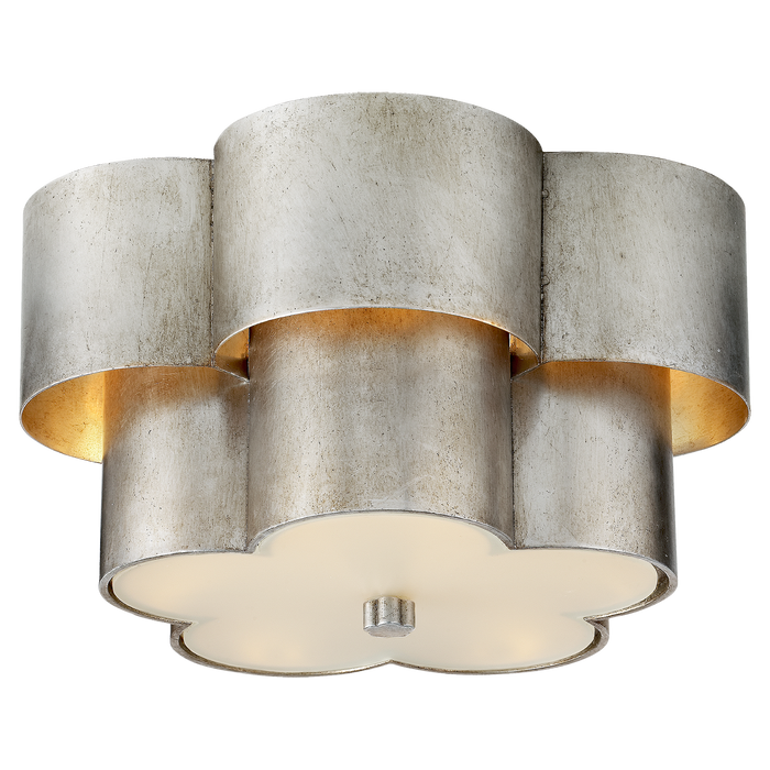 Arabelle Flush Mount - Burnished Silver Leaf Finish
