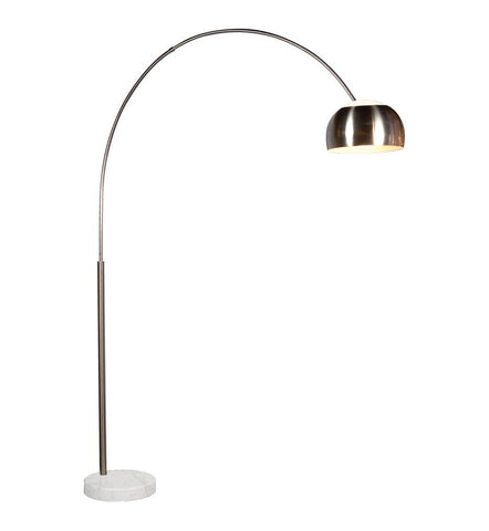 Arc Floor Lamp - Satin Nickel
