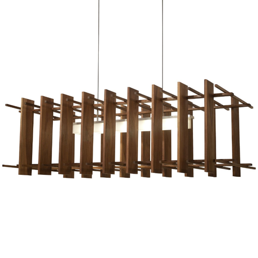 Arca LED Linear Pendant - Walnut Finish