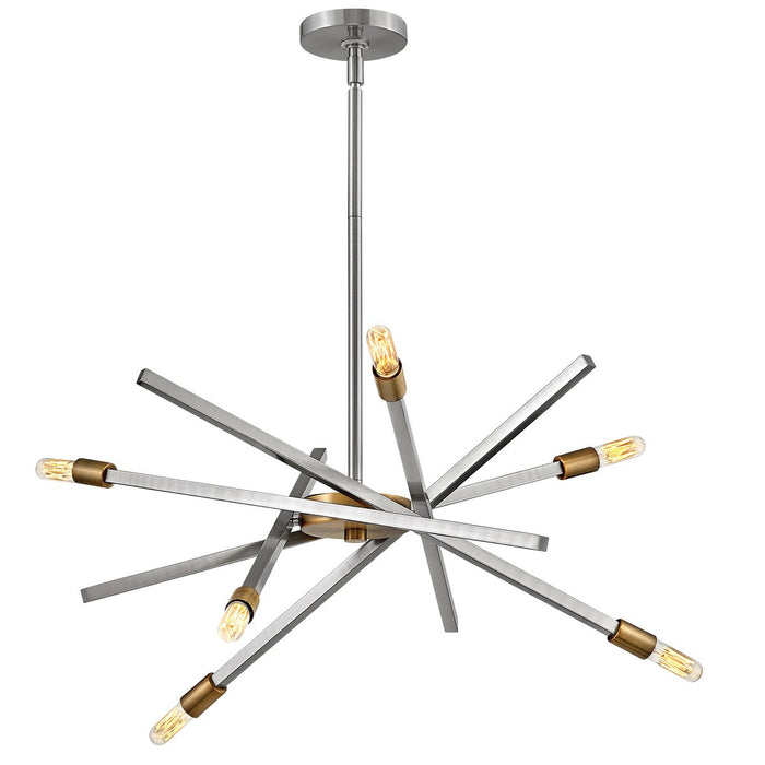 Archer Small Chandelier - Brushed Nickel Finish