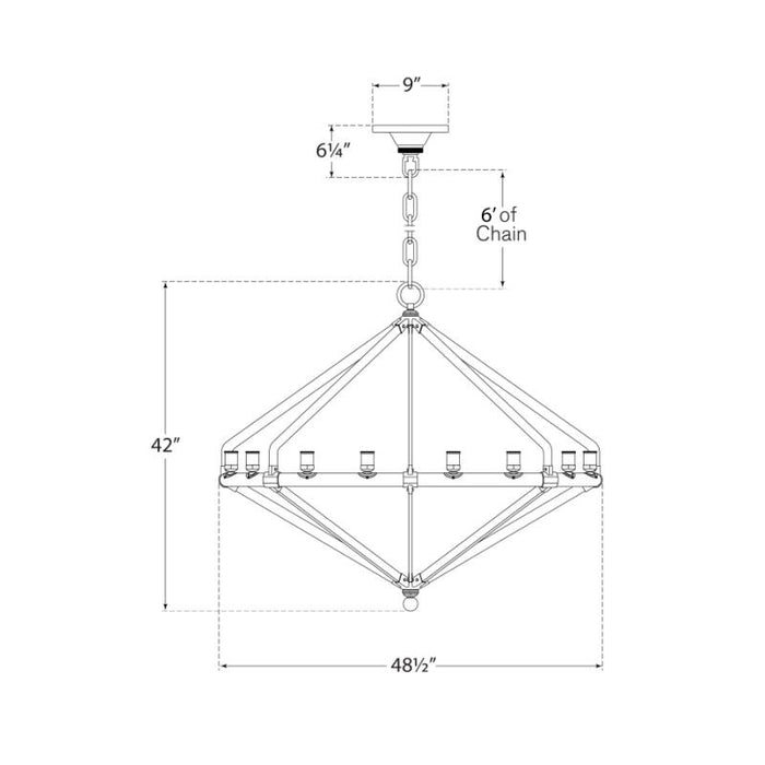 Archer Extra Large Chandelier - Diagram