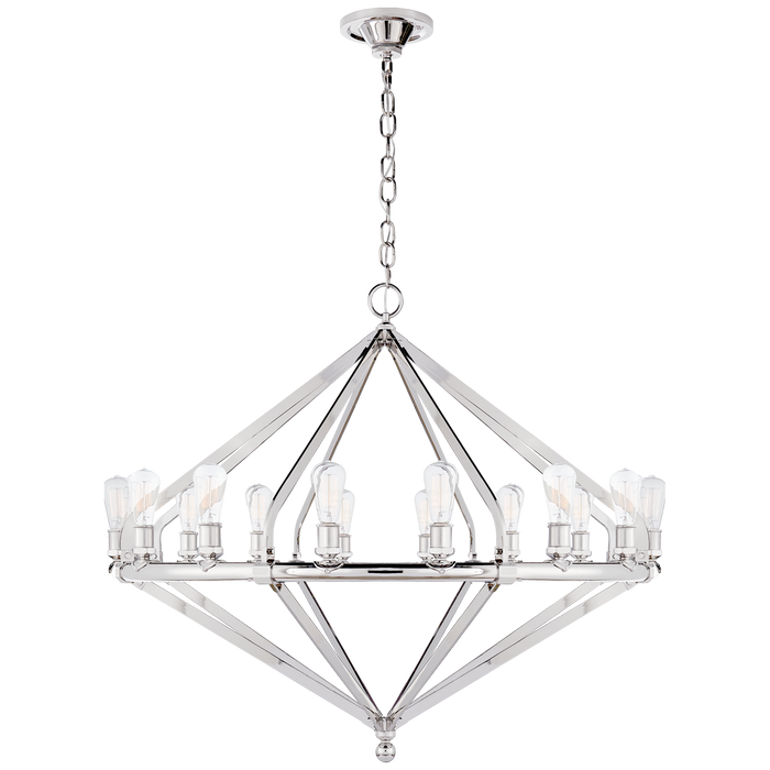Archer Extra Large Chandelier - Polished Nickel Finish