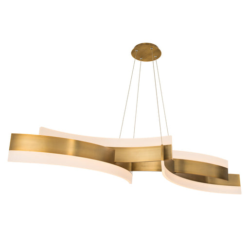 Arcs LED Chandelier - Aged Brass Finish