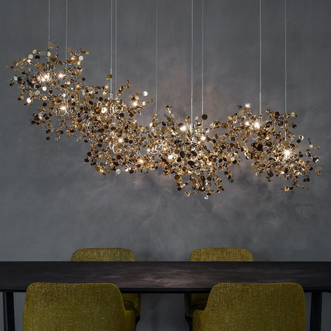 Argent Linear Chandelier - Gold