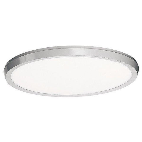 "Argo 15"" Brushed Nickel LED Round Flush Mount Ceiling Light"